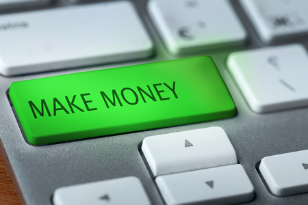 key words  art: make money on keyboard Stock Photo