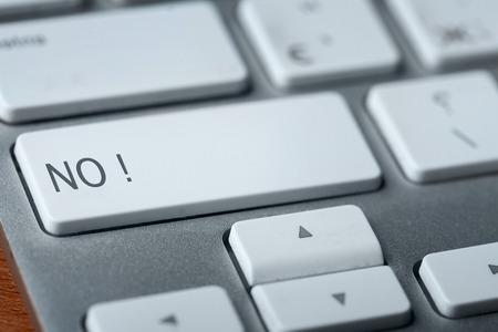 key words art: no on keyboard Stock Photo