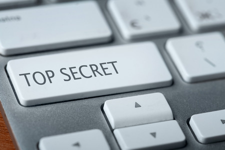 top secret on keyboard photo