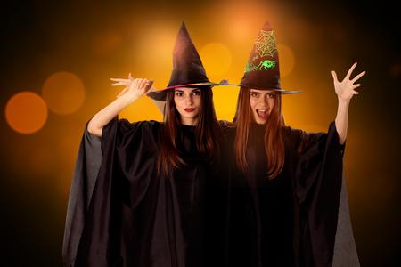 cutie: cutie young girls in halloween style posing in studio