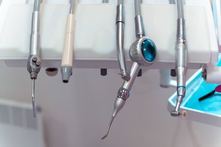 close up of a set of tools for dental treatment Zdjęcie Seryjne