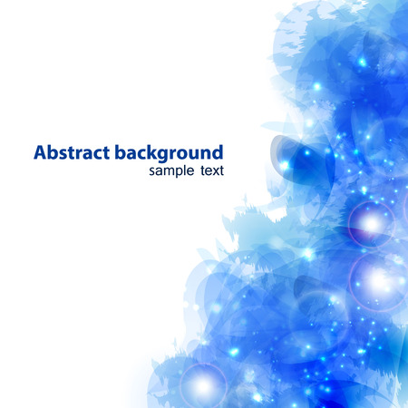 forming: Abstract blue background forming by blots
