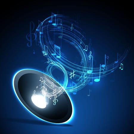 Illustration vectorielle avec la ligne de la musique néon abstrait Banque d'images - 35956335