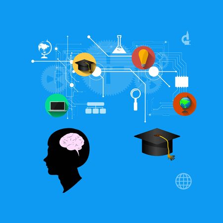 The concept of education, science and knowledge. vector