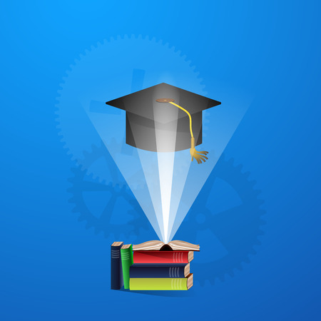 assimilation: The concept of education, science and knowledge. vector