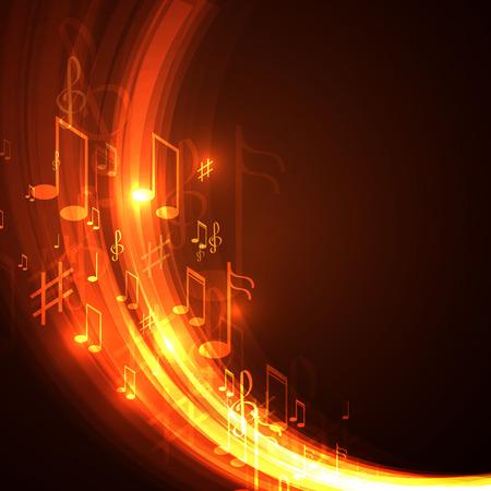 Minh hoạ vector nền âm nhạc trừu tượng
