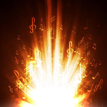 Vector illustratie abstracte muziek achtergrond