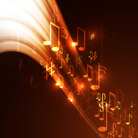 Vector illustration  abstract music background Vector