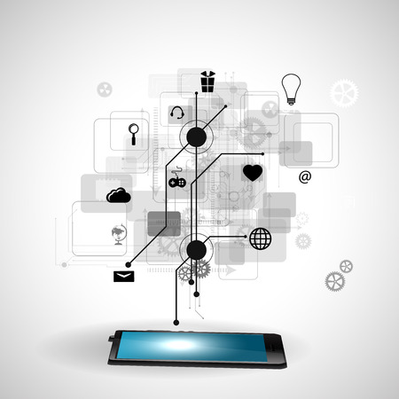 decode: Vector illustration of the concept of Internet technology
