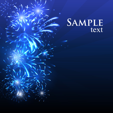 Vector illustration Fireworks against a bright background.