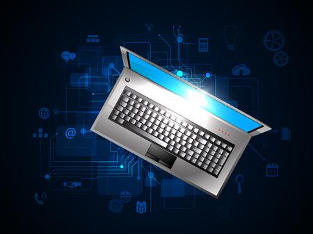 Vector illustration de la notion d'entreprise en ligne