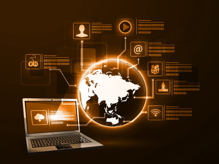 Vector illustration of the concept of Internet technology
