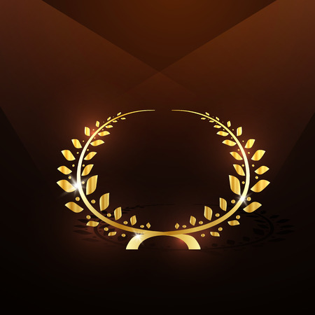 famous actress: Vector illustration gold laurel wreath Illustration