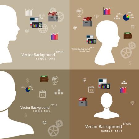 demonstrative: Vector illustration of teamwork, set background