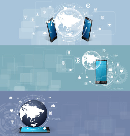 decode: illustration of the concept of Internet technology