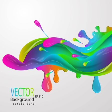 Vector illustration of a watercolor, spray, abstract