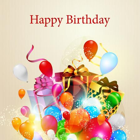 illustration of happy birthday card