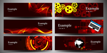 Abstract Business banner of the lines set