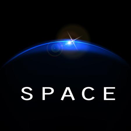 Vector illustratie van het concept van de ruimte