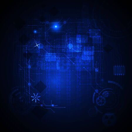torrent: Abstract Technology blue background. Illustration