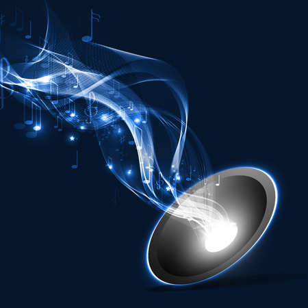 Vector illustration abstract music background Illustration