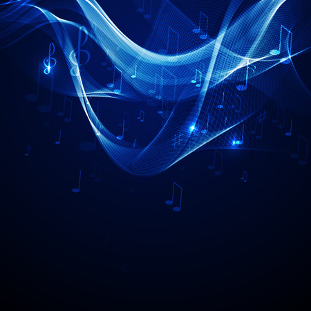 Vector illustration abstract music background  イラスト・ベクター素材