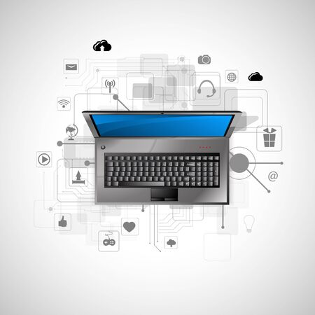internet technology: Vector illustration of the concept of Internet technology