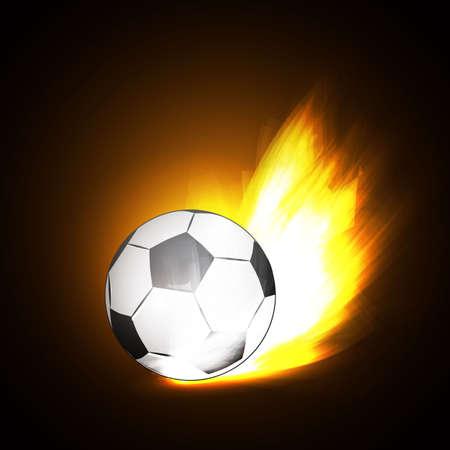 achivement: stylish conceptual digital soccer  design Stock Photo