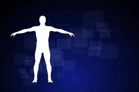 geneeskunde infographics. Schematische beschrijving van het menselijk lichaam