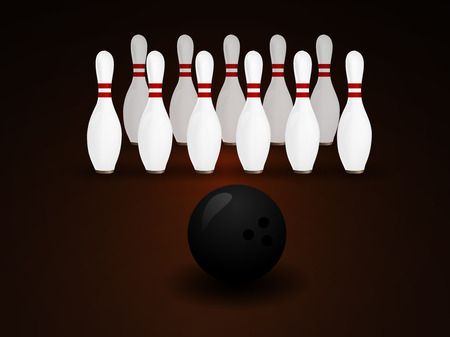 sphere standing: illustration of a Bowling Ball crashing and skittles.