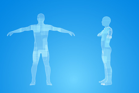 infographies de médecine. Description schématique du corps humain Banque d'images