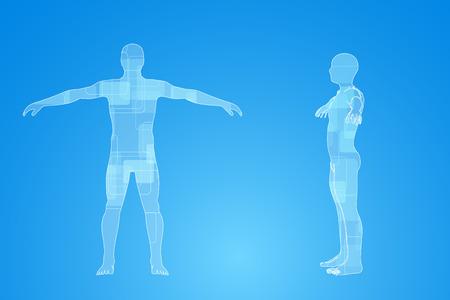 infographies de médecine. Description schématique du corps humain