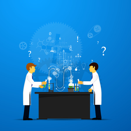 interdisciplinary: Process Research in a chemical laboratory. The concept of science, medicine and research. Stock Photo