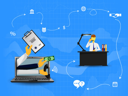 online business: illustration of the concept of online business