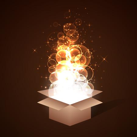 magia: Antecedentes caja mágica con una tapa abierta.