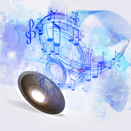 sheet music background: illustration abstract music background