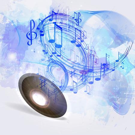 Musique d'illustration abstrait Banque d'images - 43253057