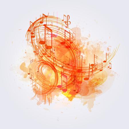 illustratie abstracte muziek achtergrond