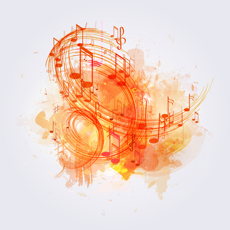 popular music: illustration abstract music background