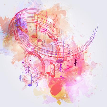 clave de fa: Ilustración de la música de fondo abstracto Vectores
