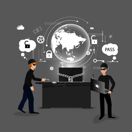 data theft: concept of protection against hacking