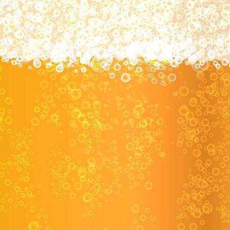 Background beer texture with bubbles and foam. Vectores