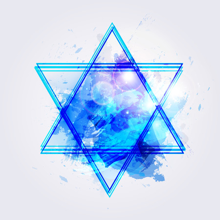 shredding: Vector illustration of star of david
