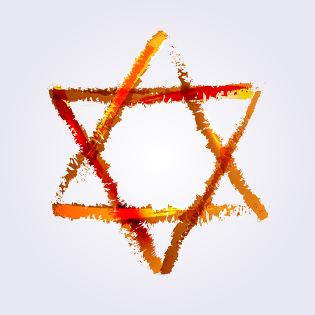 avid: Vector illustration of star of david