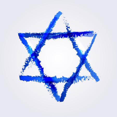 estrella de david: Ilustración vectorial de la estrella de david