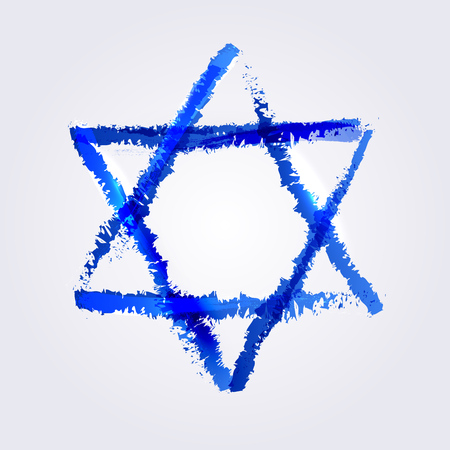 david: Vector illustration of star of david