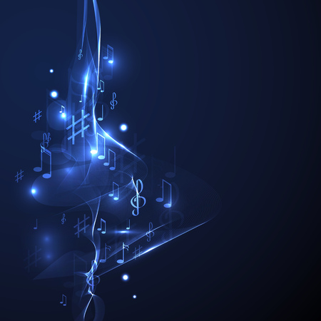 illustration abstract music background line neon