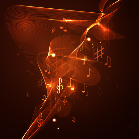 abstract music: illustration abstract music background line neon