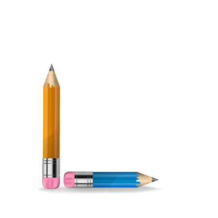 sharpened: Vector illustration of sharpened detailed pencil isolated