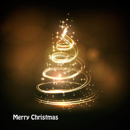 Rbol de Navidad de fondo vector de luz Foto de archivo - 46001611